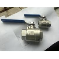 China 2-pc stainless steel ball valve SS304 / SS316 BSPT, NPT wholesale