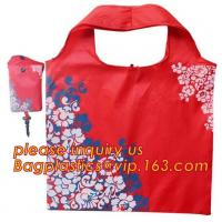 China China Factory Custom Grocery Use Polyester T-Shirt Reusable Folding Shopping Bag With Pocket,recyclable PP non woven fol wholesale