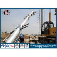 China Anti Rust 220KV Polygonal Galvanized Electric Power Poles Steel Tubular wholesale