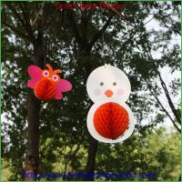 Quality Chick-shaped Tissue paper honeycomb decorations for sale