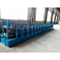 China GI. Carbon Steel Top Hat Channel Roll Forming Machine With 1.5 Inch Chain of Transmission wholesale