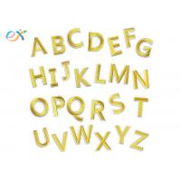 China Gold A - Z Alphabet Letters Embroidered Letter Appliques DIY Merrow Border wholesale