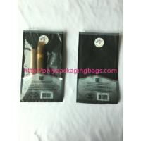 China 1 – 8 Colors Printing Cigar Packaging Bag With Slid Zip Lock / Humidifier System wholesale