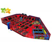 China Foam Pit Toddler Outdoor Trampoline , Commercial Trampoline Equipment Customized Color wholesale