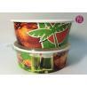 China Custom Logo Flexo Print Paper Salad Bowls Disposable 44oz With Lid wholesale