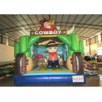 China Kindergarten Baby Custom Made Inflatables Cowboy 5 X 4 X 4m Double Stitching wholesale