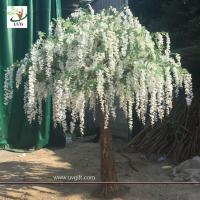 China UVG walk way decoration 10ft white wisteria blossom fake trees for wedding WIS014 wholesale