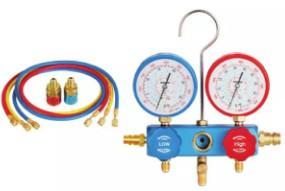 China Auto AC Tool 1234YF environmental protection plastic box Gauge set  2196 pipe pressure 800PSI-4000PS wholesale