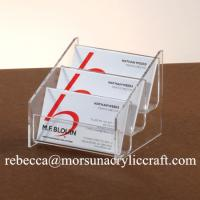 China 3 Tiers Transparent Acrylic Business Card Holder For Fair and Office wholesale