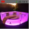 China Fancy bedroom furniture sets LED lighting bed wholesale