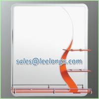 Leelongs 65cm Sandblast Single Silver Bathroom Mirror