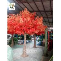 China UVG decorative autumn artificial red maple tree for home garden decoration GRE046 wholesale