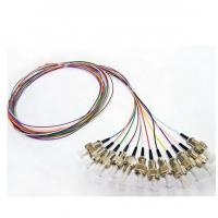 China 0.9mm Tight Buffer Fiber Optic Pigtail ST UPC Connector 12 Colors 12 Fibers wholesale