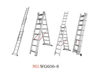 China Anti Corrosion 3x14 1.2mm Multi Folding Ladder wholesale