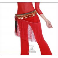 Quality Elegant Lace Belly Dancing Coin Hip Scarf Around Waist In Red / Purple / Blue for sale