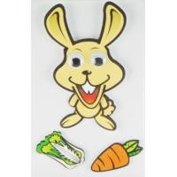 China DIY Removable 90s Cartoon Stickers , Funny Cute Rabbit Wall Stickers wholesale