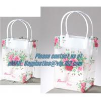 China clear PP carry bag, PP Supermarket clear pvc Shopping plastic Bag, Fashion clear plastic shopping bags with handles wholesale