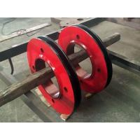 China AISI 4140 42MoCrMo4 AISI 1045 Forged Forging Steel Crane Wire Sheave Pulley wholesale