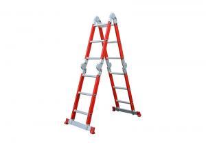 China Semi Insulating 5.72m 4X5 Fiberglass Multipurpose Ladder wholesale