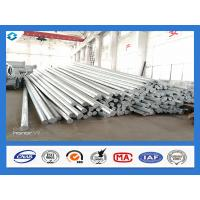 China Philippines Nea Standard Q345 40FT Hot Dip Galvanized Power Line Steel Pole wholesale