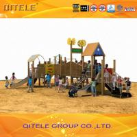 China Wood Children Play Area Equipment , Kids Play Park Equipment wholesale