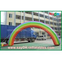 China 7mL X 4mH Giant Inflatable Entrance Arch / Rainbow Arch Oxford Cloth for Event wholesale