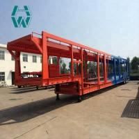 Quality Long Distance Auto Hauling Trailers / Hydraulic Vehicle Transport Trailer for sale