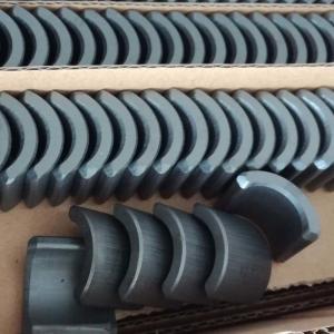 China Arc Shape Ferrite Permanent Hard Magnet For Industrial Micro Motors wholesale
