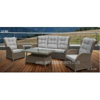 Quality Wicker Conversation Patio Seating Sets / Patio Furniture Table And Chairs Weatherproof for sale