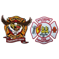 China OEM 75% Embroidery Fire Department Patches Woven US Army Patch wholesale