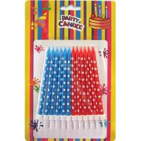 Quality Dots Painted Print Birthday Candles 12pcs 12 Holders Dia 0.55cm For Child Gift wholesale
