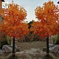 China UVG garden ornament autumn fake dwarf maple tree for interior decoration 12ft high GRE071 wholesale