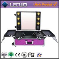 Quality LT-MCL0042 online shopping rolling makeup case with lights makeup case with lighted mirror for sale