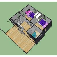 Buy cheap Easy Disassemble Expandable Container House With Steel Structure / Galvanized from wholesalers