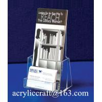 China Clear acrylic document holder, acrylic outdoor brochure holder wholesale