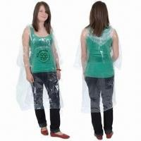 Buy cheap Printed Emergency PE Poncho, Waterproof and Lightweight, Measures 50 x 80 Inches from wholesalers