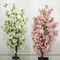 China UVG CHR089 Artificial white cherry blossom trees small bonsai Wedding Centerpieces wholesale