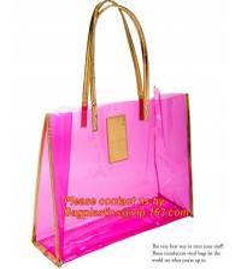 China moisture proof eva school bag pu shoulder bag flat handle plastic bag, eve handle bags, pvc handle bags, striated bag wi wholesale