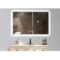 China Dimmable Anti Fog LED Illuminated Bathroom Mirror With Demister 600 X 900mm Size wholesale