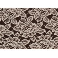 China OEM / ODM Customied Brushed Floral Lace Fabric By The Yard Anti-Static CY-LQ0006 wholesale