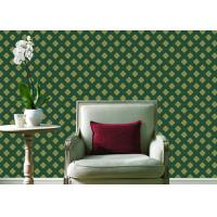 China Embossed Pvc Contemporary Wall Coverings , Four Leaf Home Floral Wallpaper For Walls wholesale