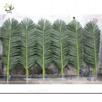 China UVG wholesale green ornaments plastic artificial palm tree leaves for outdoor home deco PTR014 wholesale