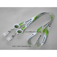 China Polyester Neck Lanyard with Retractable Badge Reel for Business ID Name Badge Holder wholesale