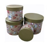 China Round Biodegradable Sturdy Base And Lid Cardboard Boxes Christmas Pattern on sale