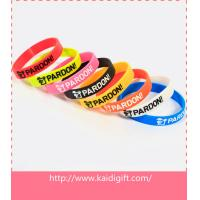 Quality Promotional ink filled silicone bracelet wholesale