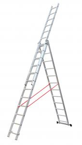 China Silver 3x10 6.53m Collapsible Aluminium Ladder wholesale
