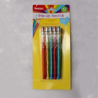 China Easter Plastic Multi Head Bullet Push Pencil Logo Printing With Cap wholesale