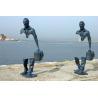 China Famous Casting Traveler Design Bronze Statue , Bronze Figurines Custom Size wholesale