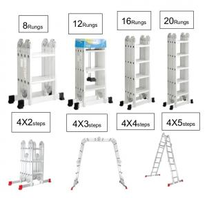 China EN131 Alloy 4x3 Multi Function Ladder Platform wholesale