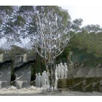 China Mirror Polished Garden Ornaments Sculptures , Stainless Steel Metal Yard Sculptures wholesale
